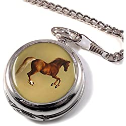 Horse Forcene by George Stubbs Full Hunter Pocket Watch