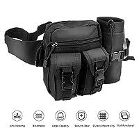 Tactical Waist Bag,Waterproof Bum bag Military Waist Utility Belt Water Bottle Pouch Pack for Trekking Hiking Walking Bike Cycling Climbing,Black 10