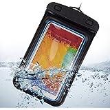 SumacLife wasserdichtes Gehäuse Waterproof Case Cover Bag für Smartphones Samsung Galaxy Note 3/Note 2/S4/S5/Wiko WAX, Nokia Lumia, LG G2/G3 Sony/HTC one, blau/schwarz