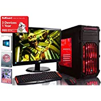 ADMI GTX 1080 GAMING PC: High-End VR Ready Gaming Desktop Computer: Intel Core i5 6400 Skylake Quad Core 3.3GHz Turbo CPU / NVIDIA GeForce GTX 1080 8GB GDDR5X 4K VR Ready Graphics Card / 8GB 2133MHz DDR4 RAM / 1TB Hard Drive / 650W PSU Bronze Rated / HD Audio / USB 3.0 / HDMI/4K Ultra HD Support / VR / Oculus Support / Corsair SPEC-03 Gaming Case with Red LED / Pre-Installed with Windows 10 - with Keyboard & Mouse set and 24 Inch Monitor