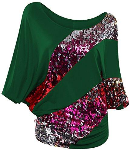lemongirl-camisas-para-mujer-verde-verde