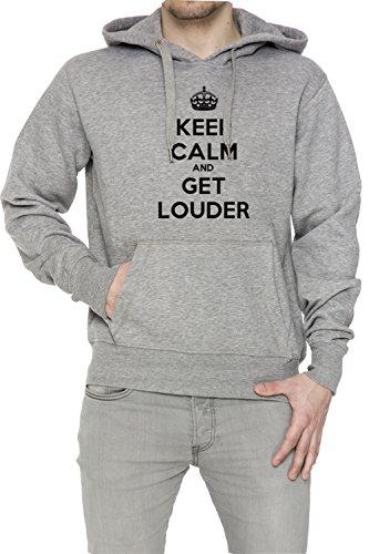 keep-calm-and-get-louder-uomo-grigio-felpa-felpa-con-cappuccio-pullover-grey-mens-sweatshirt-pullove
