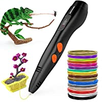 3D Printing Pen,Meterk Intelligent Doodler Pen with LCD Display 16 Loops of 1.75mm Filament Refills Working with ABS PLA Filament for Kids Art Craft Drawing DIY Gift