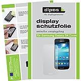 dipos Samsung S4 Zoom Schutzfolie (2 Stück) - Antireflex Premium Folie matt