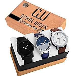GREAT WORK Analogue Combo Men's Watches - Pack of 3