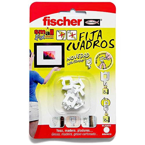 FISCHER Fijacuadros Blanco Envase de 8 Ud., 522206