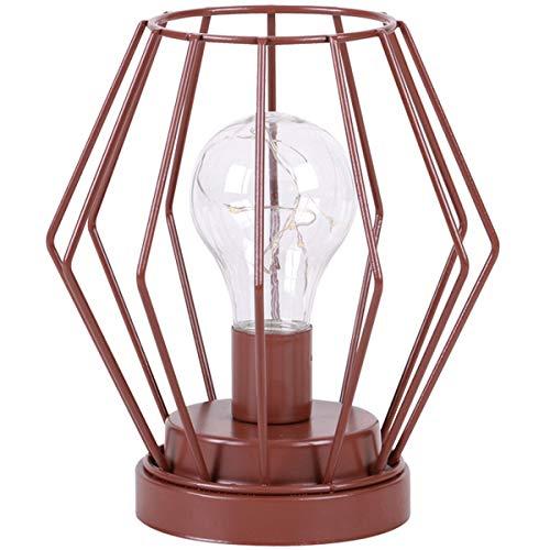 Promobo - Lampe Design Scandinave Filaire 8 Led H 17 cm Alimentée Par Piles Marron