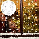 LoveLeiter Türvorhang Kristall Girland Crystal Clear Acrylic Bead Garland Weihnachten Schneeflocken hängende Partei Dekor Hochzeit DIY Dekor Anhänger Perlenvorhang