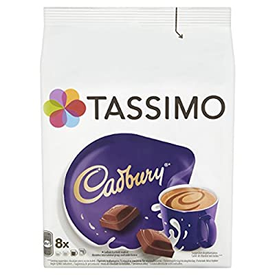 TASSIMO Cadbury Hot Chocolate Coffee Capsules T-Discs Refills 5 Pack, 40 Drinks