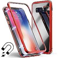 Miagon Galaxy S8 Plus Magnetische Hülle,Galaxy S8 Plus Glas Schutzhülle, Metall Rahmen Vorderseite und 9H Gehärtetem... preisvergleich bei billige-tabletten.eu