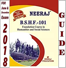 BSHF101-Foundation Course In Humanities &amp Social Sciences (Ignou Help Book For BSHF-101 In English Medium)