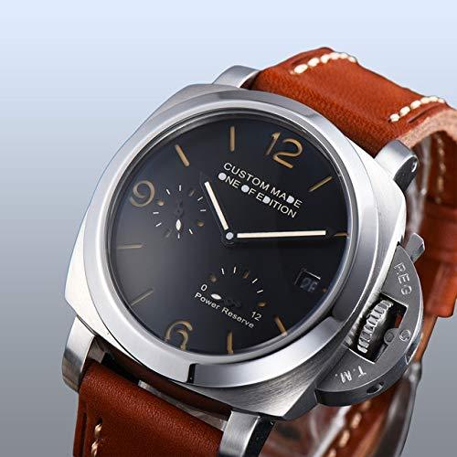 Uhr 42Mm Automatik Parnis Silber Edelstahl Uhr