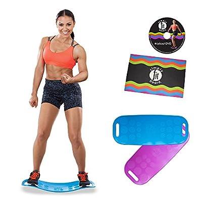 Simply Fit Board Fitnessgerät inkl DVD und Trainingsmatte Balance Board Workout Twist das Original von Mediashop