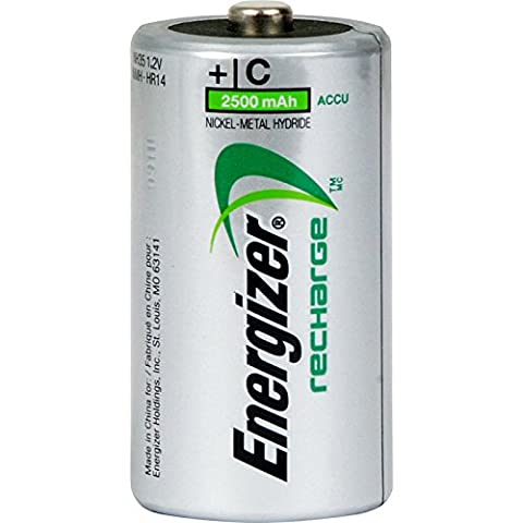 Energizer Power Plus Pre Charged Rechargeable Batteries C 2500mAh
