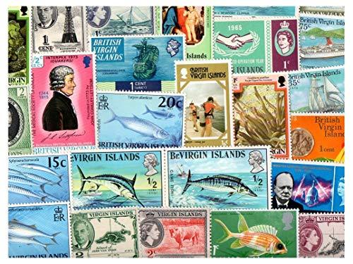 Pghstamps isole vergini britanniche 500 francobolli differenti collezione per collezionisti