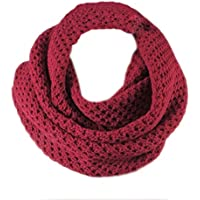Winter Warm uncinetto maglia lunga nappe morbida sciarpa Sciarpe Wrap, due stili, infinito e Straight (vino rosso)