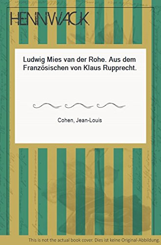 Ludwig Mies van der Rohe (Collection Architectur) Buch-Cover