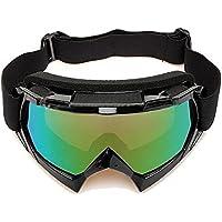 Gafas de esqui - SODIAL(R)Gafas de esqui de motocicleta resistente a polvos ATV fuera de la carretera de motocross de un solo lente de color negro