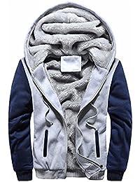 0b053067a1c8 Internet Homme Hiver Cuir Hiver Chaud Sweat Capuche Manteau Veste Pull  Sweatshirt Veste à Glissière Veste