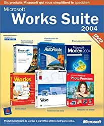 Works Suite 2004 Dvd (Word, Works 7,0, Money 2004, Encarta Encyclopédie 2004, Autoroute 2004, Picture It Premium 9) [Import]