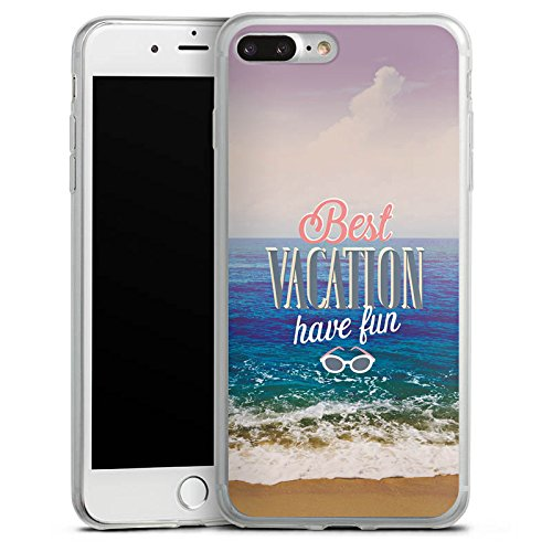 Apple iPhone X Slim Case Silikon Hülle Schutzhülle Urlaub Meer Strand Silikon Slim Case transparent