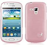 [ Samsung Galaxy Trend Plus Case ] - Funda JammyLizard De Silicona Pearly Gel Efecto Nacarado Metalizado Back Cover, ROSA