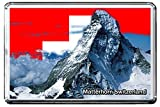 0128 MATTERHORN KÜHLSCHRANKMAGNET SWITZERLAND LANDMARKS, SWITZERLAND ATTRACTIONS REFRIGERATOR MAGNET