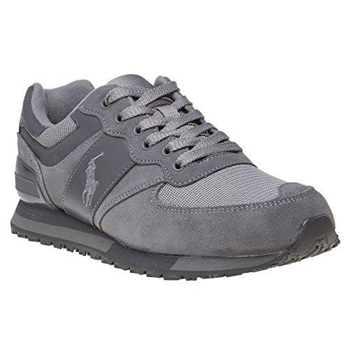 Ralph Lauren - Polo Sport Athletic Slaton Pony Grey - Sneakers Homme