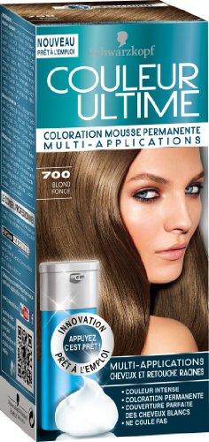 schwarzkopf couleur ultime coloration mousse permanente 700 blond fonc - Coloration Blond Fonc