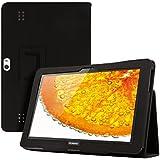 kwmobile Hülle für Huawei MediaPad 10 FHD mit Ständer - Kunstleder Tablet Case Cover Tasche Schutzhülle in Schwarz