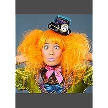 Mujeres lujo sombrerero loco naranja estilo peluca