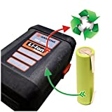 Zellenaustausch für Gardena 8835 Akku (18V Lithium-ion 2,6 Ah) für Gardena AccuCut 400 Li (8840) / AccuCut 450 Li (8841) / AccuJet 18-Li (9333-20) / CST 2018-Li (8865) / EasyCut 50-Li (8873) / ErgoCut 48-Li (8878) / HighCut 48-Li (8882) Batterie *Akkutauschen.de ist ausgezeichnet mit dem Qualitätssiegel Werkstatt N des Rates für Nachhaltige Entwicklung*