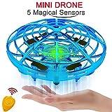 Lechnical Mini Drone UFO azionato a Mano RC Elicottero Quadrocopter Drone aeromobili ad induzione a infrarossi Palla Volante Giocattoli per Bambini
