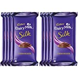 Cadbury Dairy Milk Silk Chocolate Bar, 60g (Pack Of 8)