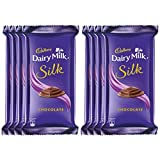 #6: Cadbury Dairy Milk Silk Chocolate Bar, 60g (Pack of 8)