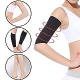 #3: Leoie 2Pcs Women Slimming Arm Sleeves, Weight Loss Thin Arm Fat Slimmer Wrap Elasticity Belt Arm Shaper