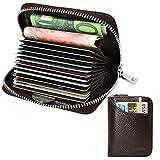 Tarjetero para Tarjetas de Crédito para Hombre Mujer RFID Titular de la Tarjeta de...