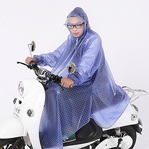 Poncho Elektroauto Motorrad mit dicken Ärmeln, um den großen Hut transparenten Regenmantel zu erhöhen ( farbe : A ) S