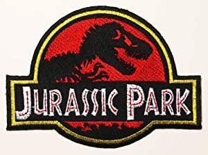 "Jurassic Park Ecusson thermocollant (4.5 ""(12 cm) Brodé dinosaure T-Rex Movie Badge-LIVRAISON GRATUITE!"