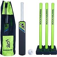 Kookaburra Blast Set de Cricket – Bate de béisbol de Juguete de plástico Seguro para el jardín, Verde, 2