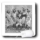 3drose LLC 20,3x 20,3x 0,6cm Mauspad Bild von Foto von afrikanischen krieger aus Turn of Century (MP _ 171799_ 1)