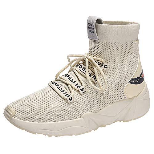 UFACE Damen Mesh Atmungsaktive Mode Socken Schuhe Freizeitschuhe Erhöhte Schuhe Sneaker -