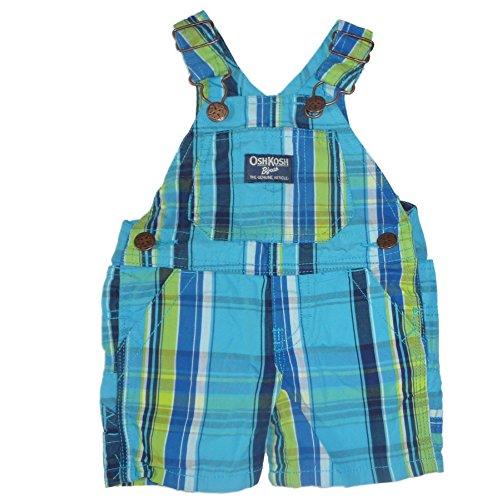 OSHKOSH B'gosh kurze Latzhose Shorts Sommer Baby Hose Junge (56/62, blau grün) - Oshkosh Jungen Shorts