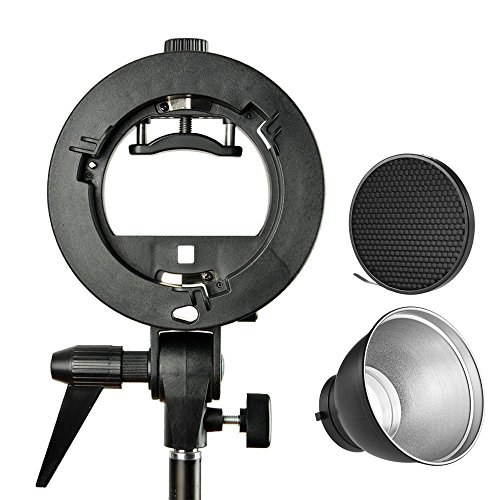 pro-godox-s-type-bracket-bowens-mount-holder-7-inch-standard-reflector-diffuser-lamp-shade-dish-with