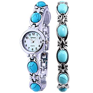 Time100-Armbanduhr-Armbnder-Damenuhr-Quarzuhr-Mdchenuhr-Edelstahl
