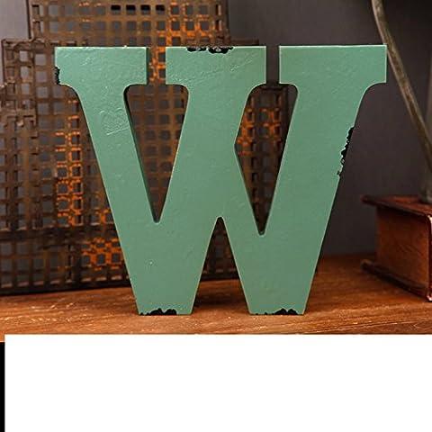 LIUYU Retro Old Alphabet Anglais Ornements Display Decoration-R,V