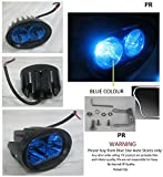 PR Bike Fog Lamp Light 20w 3200Lm Cree Led Projector LED Aux Lights 1pc Blue Light Motorycle Fog Light Bike Projector Auxillary Spot Beam Light with and For Bajaj Platina 100 KS Alloy