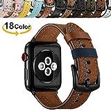 Chok Idea Compatible with Apple Watch Bracelet 42mm 44mm,Trendy Véritable Bande de...