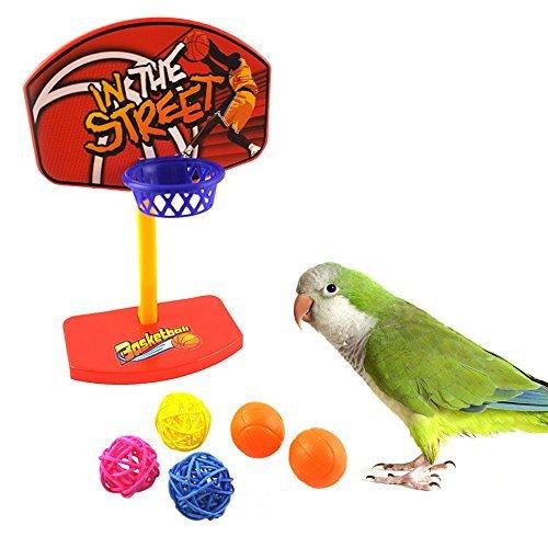 broadroot Parrot Toys Vögel Kauen Sittiche Bell Bälle Birdie Basketballkorb Prop (Bell Birdie)