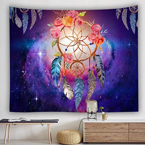 Gaddrt 100 x 150 cm Bunte Dream Catcher Tapisserie böhmischen Hippie Wandbehang Tagesdecke Dorm Decor Wandteppich (D) (Wandteppich Modern Wandbehang)